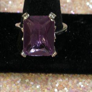 Size 10 amethyst fashion ring